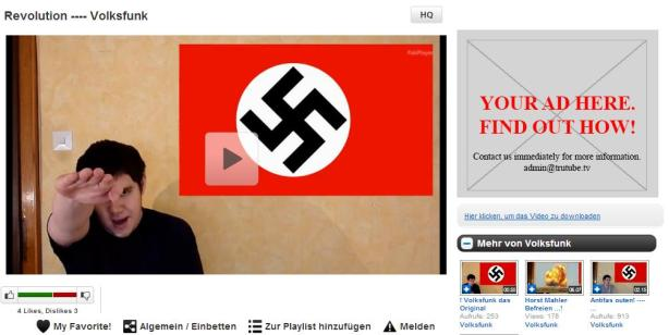 TruTube-Revolution-Volksfunk-Hakenkreuz-Hitlergruss