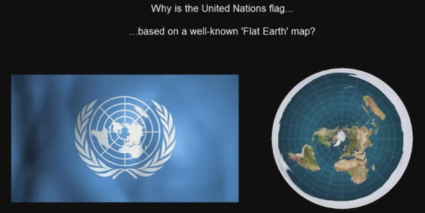 flat earth - united-nations-flag_flat-earth-model