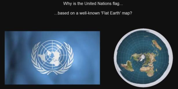 flat earth - united-nations-flag_flat-earth-model